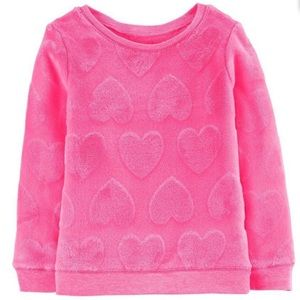 Carter's 2 pc Pink Heart Fuzzy Sweater